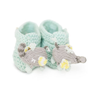 Piper The Elephant Rattle Booties