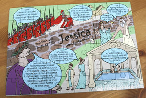 Personalised Learn About Romans Wooden Jigsaw Puzzle - toys & games