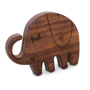 Piper The Elephant Wooden Teether - rattles