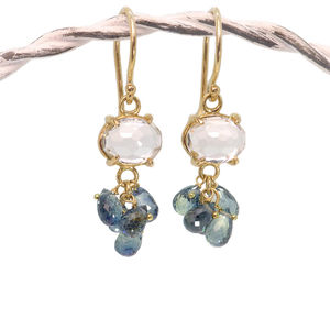 Handmade Sapphire Earrings In 18ct Gold