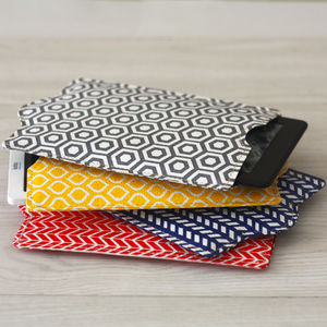 Recycled Geometric Kindle Or Kobo Sleeve - bags & purses