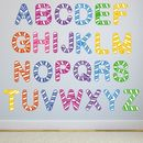 Stripe Alphabet Wall Stickers