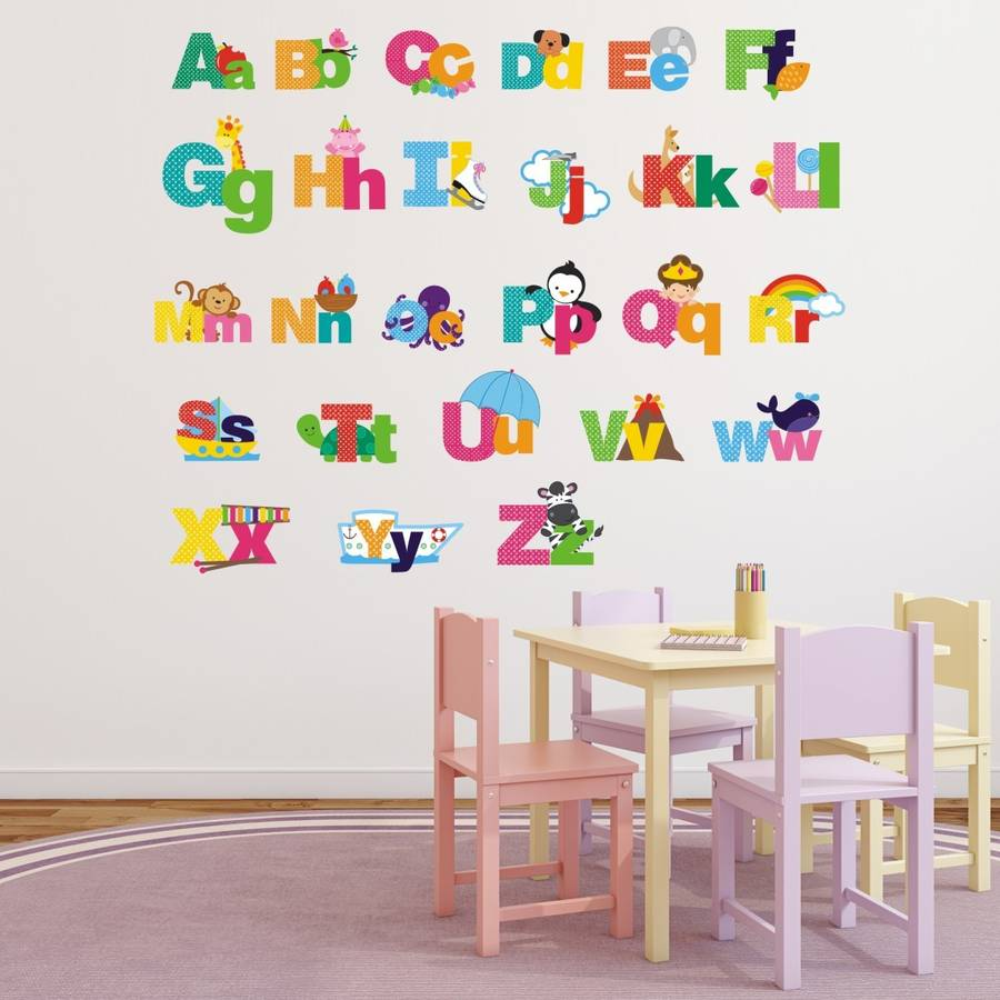 Wonderful Picture Alphabet Wall Stickers Part 3