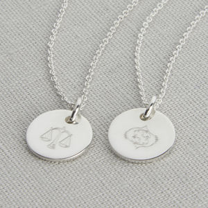 Personalised Sterling Silver Zodiac Necklace - personalised