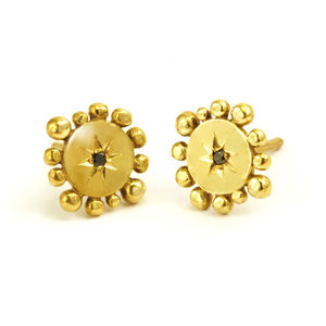 Bobble And Twinkle Earrings - fine jewellery