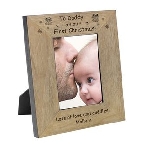 To Daddy On Our First Christmas Frame - children's room accessories