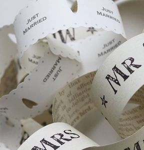 Vintage Wedding 'Mr And Mrs' Paper Chains