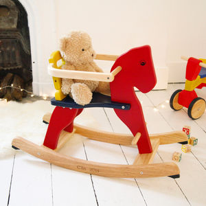 Personalised Wooden Rocking Horse - toys & games