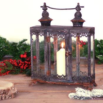 Zinc Metal Garden Lantern