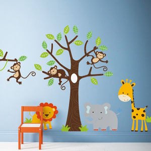 Children's Jungle Wall Sticker Set - baby's room
