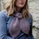 Crochet Flower Scarf in Organic Cotton