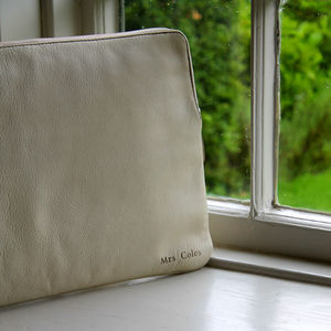 Ladbroke: Luxurious Leather Laptop Sleeve - men's accessories