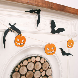 Halloween Pumpkin Bunting - party decorations