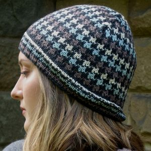 Dogtooth Check Hat In Organic Cotton