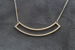 Silver Curved Pendant Necklace - necklaces & pendants