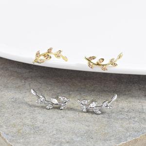 Delicate Leaf Stud Earrings - earrings