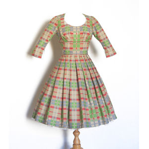 Checked Vintage Style Audrey Dress - dresses