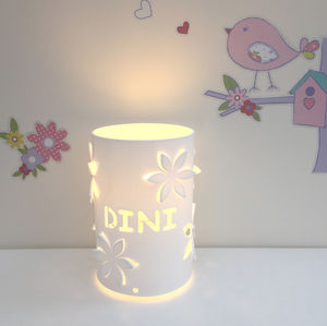Flower Personalised Table Lamp Bedside Lamp
