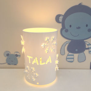 Personalised Snowflake Table Lamp