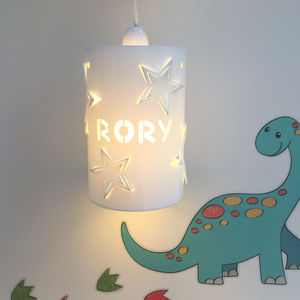 Personalised Star Ceiling Shade - children's lighting