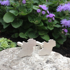 Handmade Ireland Outline Cufflinks - cufflinks