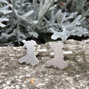 Handmade Wales Outline Cufflinks