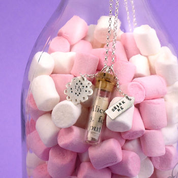 In Wonderland 'Eat Me Drink Me' Necklace