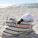 Nautical Navy Stripe Beach Bag
