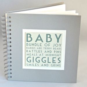 'New Baby' Memories Book - keepsakes