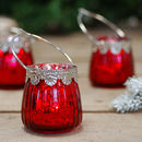 Red Styled Vintage Tea Light Holder Votive