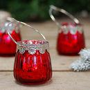 Red Styled Vintage Tea Light Holder Votive