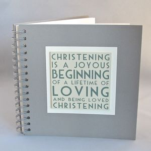 'Christening' Memories Book