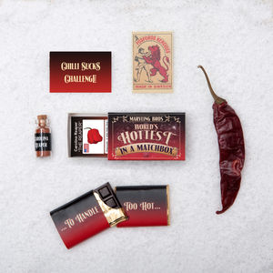 Carolina Reaper And Chilli Chocolate In A Matchbox - christmas