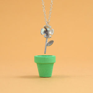 'Lucky' Silver Four Leaf Clover Necklace