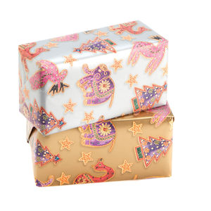 Zari Decorations Wrap On A Roll Twin Pack - cards & wrap