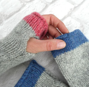 Pure Wool Fingerless Gloves - hats, scarves & gloves