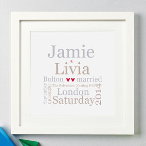 Personalised Couple's Typographic Print - gifts for couples