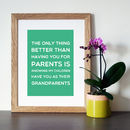 Green background with oak frame
