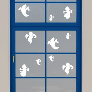 Halloween Ghost Static Window Decorations