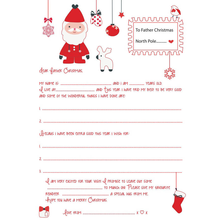 Father Christmas Letter By Buttongirl Designs
