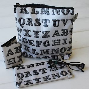 Typography Card Holder - make-up & wash bags