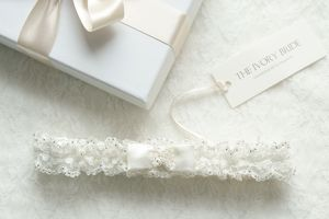 Catherine Satin And Lace Garter - bridal garters