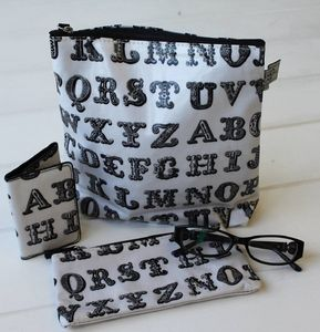 Typography Make Up Bag/Pencil Case - make-up bags