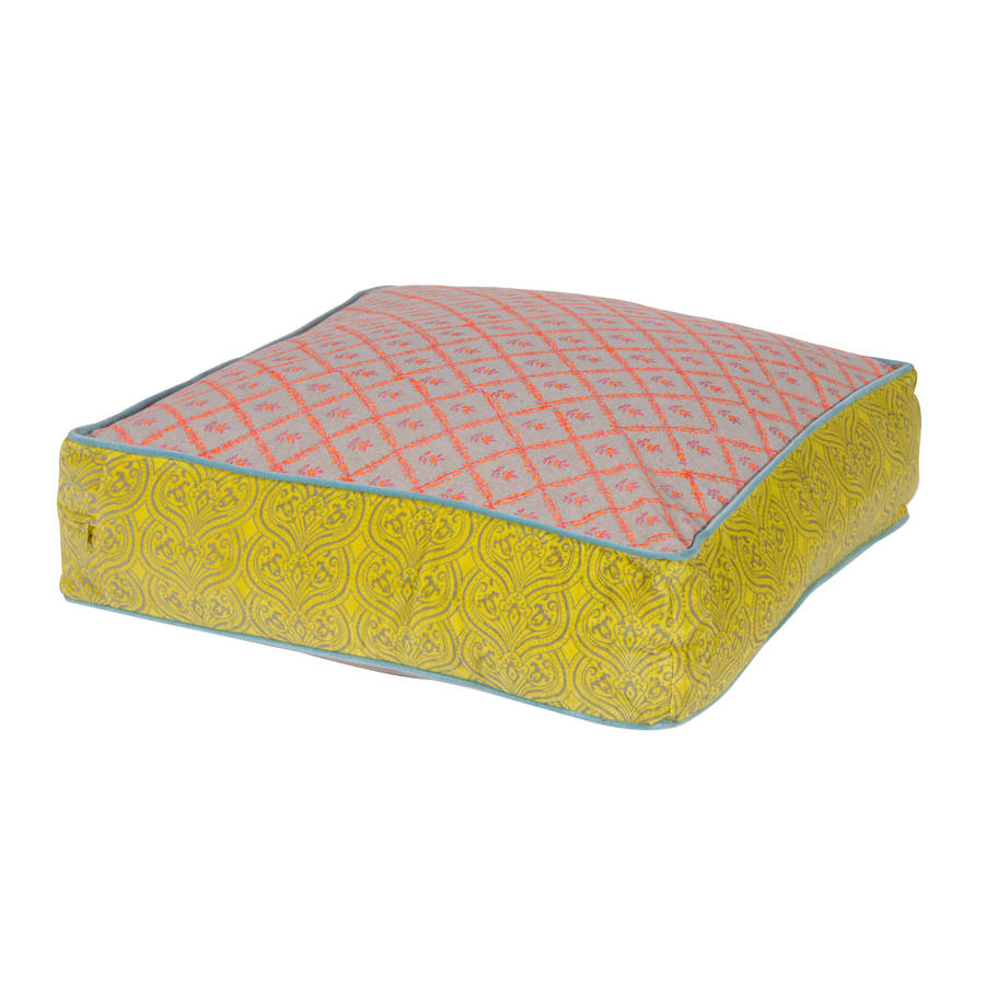 large floor cushion in five colours by out there interiors notonthehighstreet.com