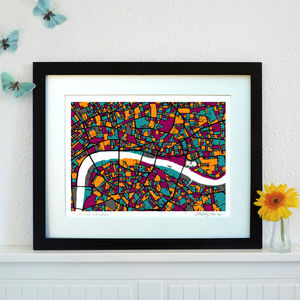 Central London Map Art Print