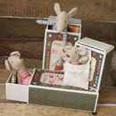 Vintage Style Matchbox Baby Girl Mouse
