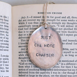 'Just One More Chapter' Vintage Bookmark - bookmarks