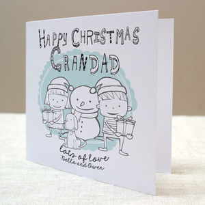 Personalised Christmas Grandparent Card