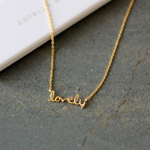 'Lovely' Gold Plated Necklace