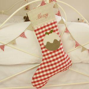 Personalised Christmas Pudding Stocking - stockings & sacks